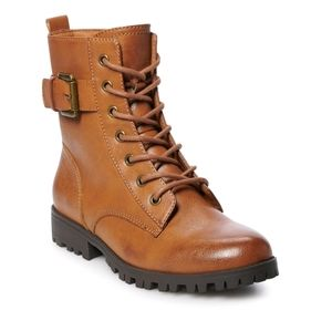 NWT Combat Lace up Boots Wide and Reg Widths